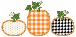 Fall Pumpkin Border Applique embroidery design