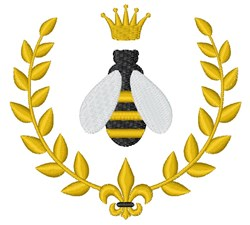Royal Bee embroidery design