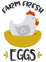 Farm Fresh Eggs embroidery design