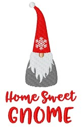 Home Sweet Gnome embroidery design