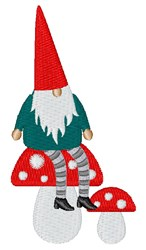 Gnome & Mushrooms embroidery design