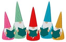 Gnomes Caroling embroidery design