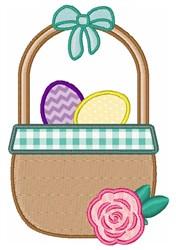 Easter Egg Basket embroidery design