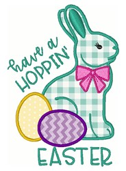 Hoppin Easter embroidery design