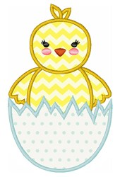Easter Chick & Egg embroidery design