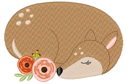 Sleeping Fawn embroidery design
