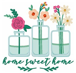 Sweet Home Flowers embroidery design