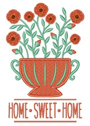 Home Sweet Home Roses embroidery design