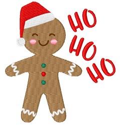 Ho Ho Ho Gingerbread embroidery design