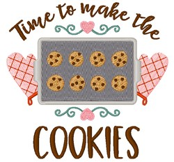 Make The Cookies embroidery design