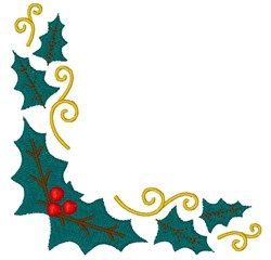 Holly Corner embroidery design