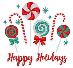 Holiday Lollipops embroidery design
