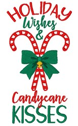 Candy Cane Kisses embroidery design