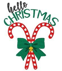 Hello Christmas embroidery design