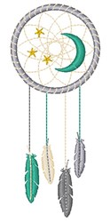 Moon Dream Catcher embroidery design