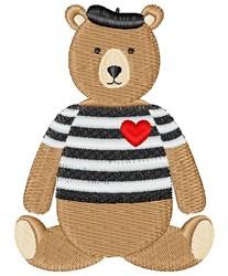 Valentine Bear embroidery design