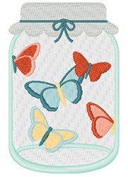 Butterfly Jar embroidery design