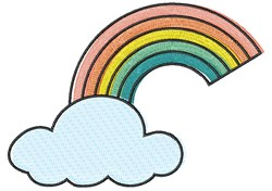 Rainbow Cloud embroidery design