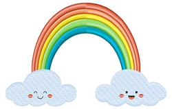 Rainbow & Clouds embroidery design