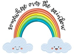 Somewhere Over The Rainbow embroidery design