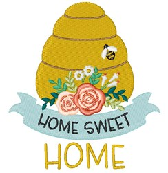Hive Sweet Home embroidery design