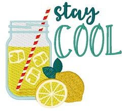 Stay Cool Lemonade embroidery design
