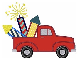 Fireworks Truck   embroidery design