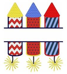 Rocket Name Drop embroidery design