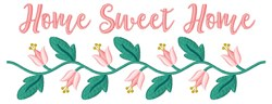 Sweet Home Floral embroidery design