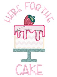 Let Them Eat Cake embroidery design