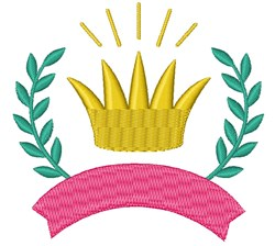 Princess Crown And Banner embroidery design