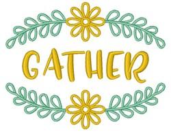 Gather Floral Fram embroidery design