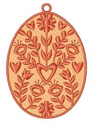 Folk Art Egg embroidery design