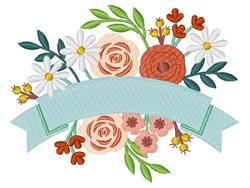 Wildflower Banner embroidery design