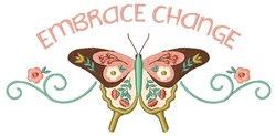 Embrace Change embroidery design