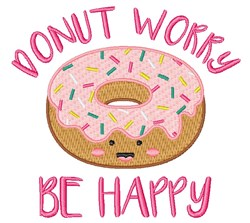 Dont Worry Be Happy embroidery design