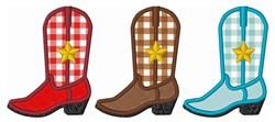 Cowboy Boots Applique embroidery design