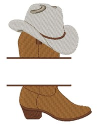 Boot & Hat Name Drop embroidery design