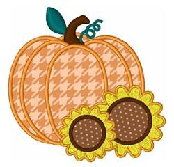 Pumpkin & Sunflowers Applique embroidery design