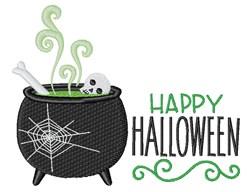 Happy Halloween Cauldron embroidery design