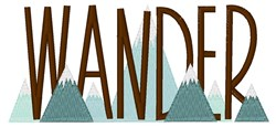 Wander The Mountains embroidery design