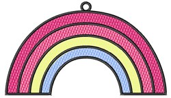 Rainbow embroidery design