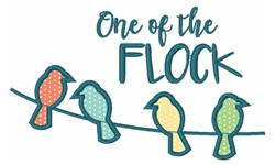 One Of The Flock embroidery design