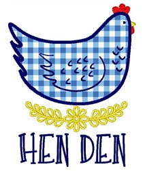 Hen Den embroidery design