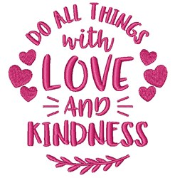 Love & Kindness embroidery design