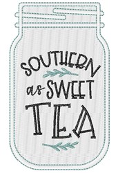 Sweet Tea Outline embroidery design