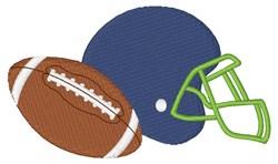 Helmet & Ball embroidery design
