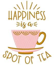 A Spot Of Tea embroidery design