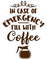Fill Will Coffee embroidery design
