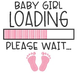 Baby Girl Loading embroidery design
